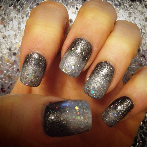 Ombre New Years Eve Nails