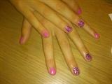 pink/silver leopard