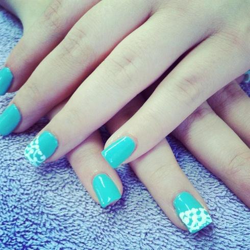 blue dainty lace nails  nail art gallery