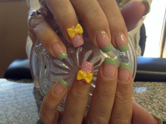 3D Bows Spring Nails