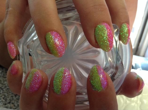 Fun Glitter nail art