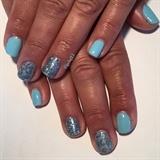 Blue Lace Gel Manicure