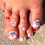 Red, White and Blue Pedicure