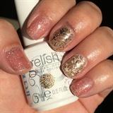 Pink & Gold Gel Nails