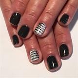 Dark & Light Grey Gel Manicure