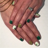 St Patrick's Day Gel Manicure