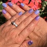 Spring Periwinkle Gel Manicure