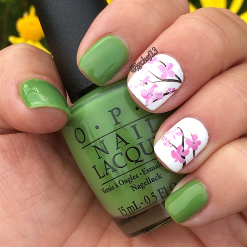 Cherry Blossom Gel Manicure
