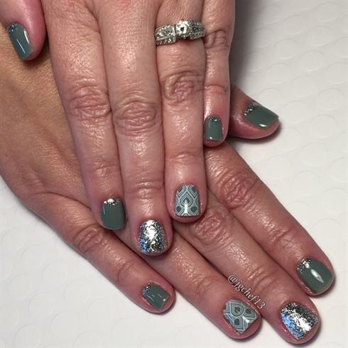 Smokey Sage 70's Inspired Gel Manicure