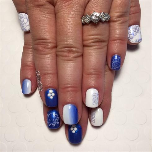 Nautical Summer Loving Gel Manicure
