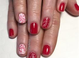 Bandana Print Gel Manicure