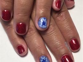 4th Of July Gel Manicure