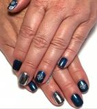 Nautical & Chrome Gel Manicure