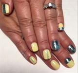 Yellow & Blue Summer Gel Mani