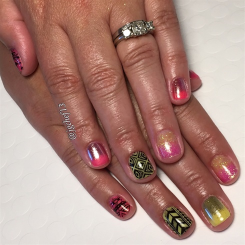 Pink Lemonade Tribal Gel Manicure