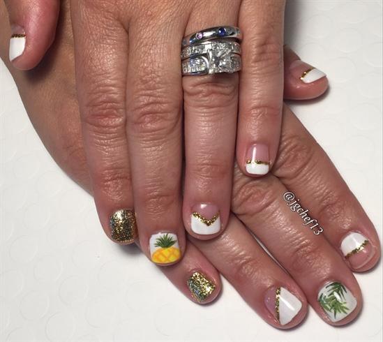 Fun Tropical Gel Manicure