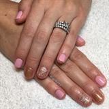Pink & Sparkly Gel Manicure