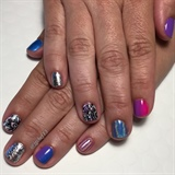 Brights To End Summer Gel Manicure