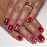 Ruby Red Gel Manicure