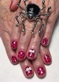 Pink & Black Polka Dots W/ Acrylic Bows