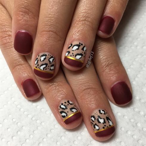 Leopard Print Gel Mani