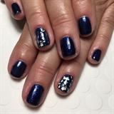 Blue Glitter W/ Silver Foil