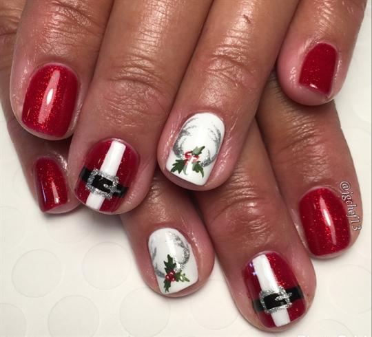 Santa & Reindeer Christmas Nails