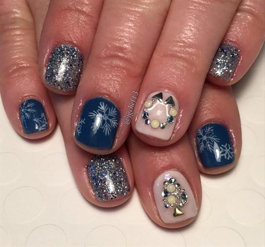 Blue Christmas Nail Art: Nail Art Gallery