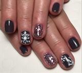 Gray W/ Embossed Snowflakes & Rockstar