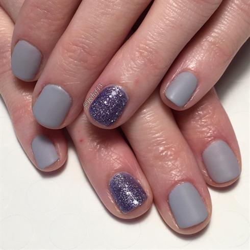 Matte Smokey Lavender W/ Glitter Accents