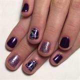 Purple & Amethyst Glitter Manicure