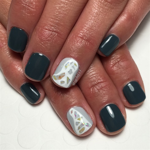 Slate Mosaic Gel Manicure
