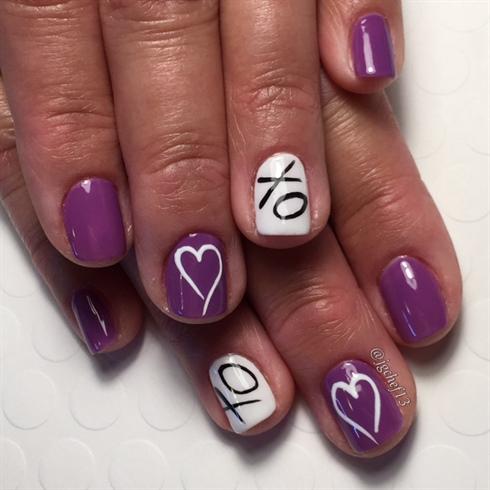 XO's & Hearts Valentine's Day Manicure