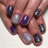Purple Roses & Polka Dots