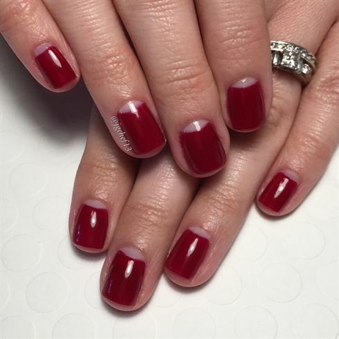 Negative Space Valentine's Manicure