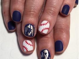 Matte Baseball Gel Manicure