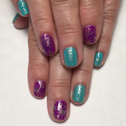 Bright Tropical Gel Manicure