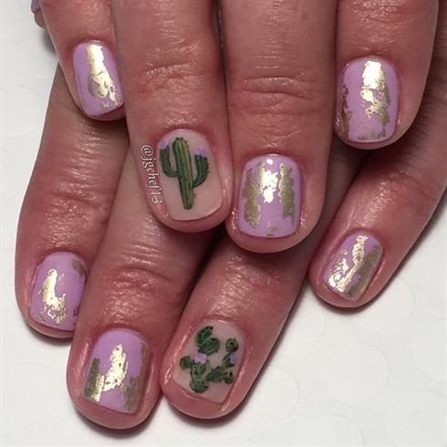 Cactus Cuteness Gel Manicure
