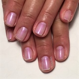 Simple Sea Pearl Gel Manicure