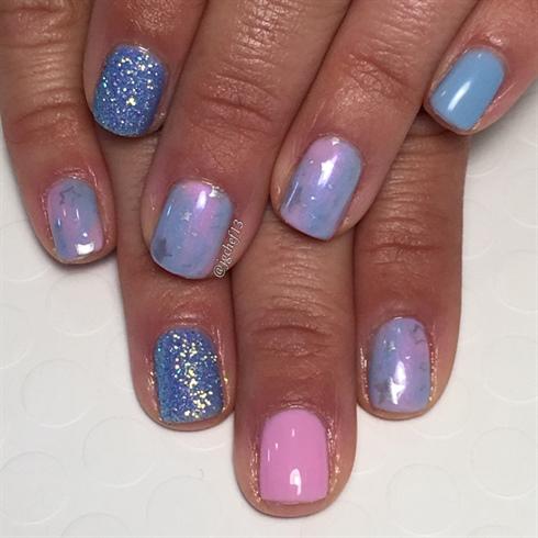 unicorn gel manicure  nail art gallery