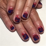 Matte Floral & Negative Space Manicure