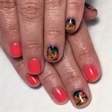 Tropical Floral Manicure