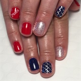 'Merica 4th Of July Manicure