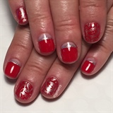 Cherry Red Bandanna Manicure