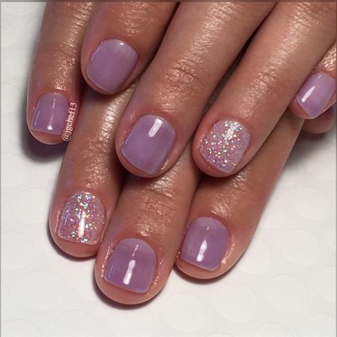 Sheer Purple & Rockstar Manicure