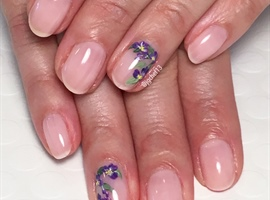 Sheer Pink With Fun Floral Accents