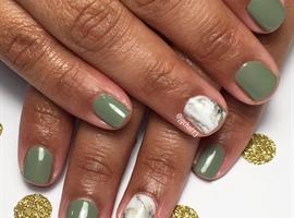 nail art: Fall Marbling