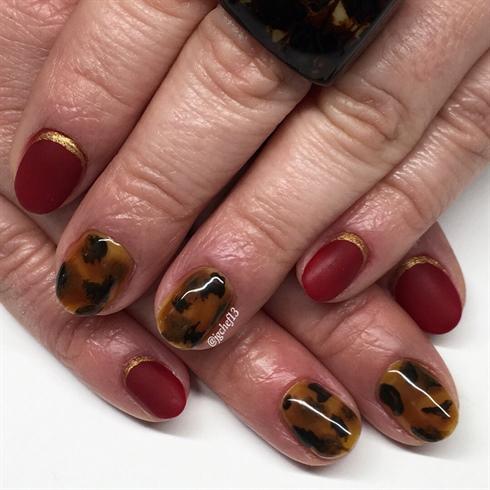Tortoise Shell Manicure