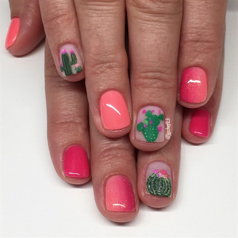 Cutest Cactus Manicure EVER