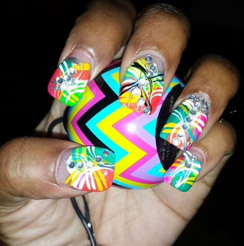 Smile:-), free styling nail art